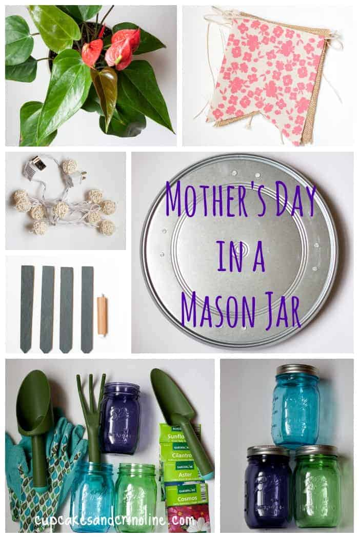 Mason Jar Gifts for the gardener - beautiful and colorful mason jars filled with gifts for gardening enthusiasts.
