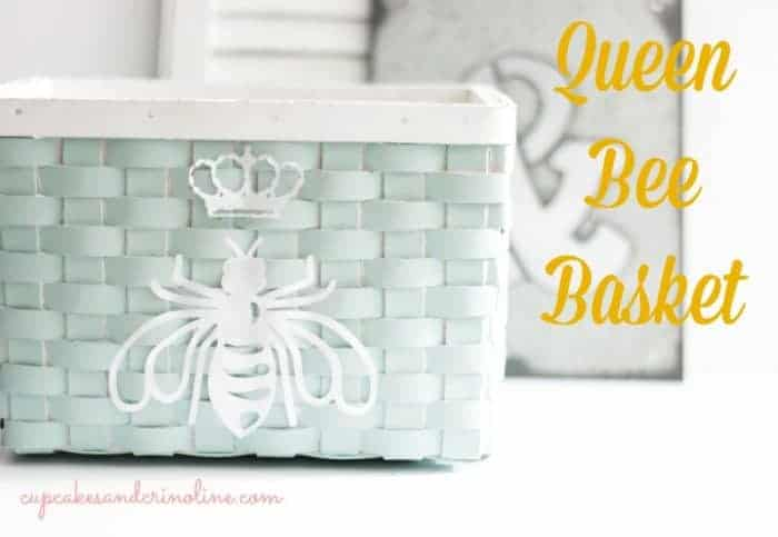 Queen Bee Basket ~ Ballard Designs Knockoff cupcakesandcrinoline.com