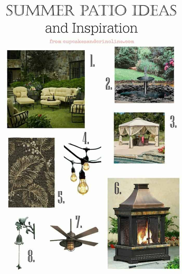 Summer patio ideas and inspiration from cupcakesandcrinoline.com