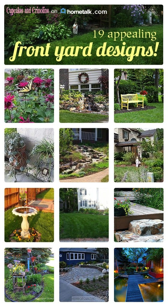 19 appealing front yard designs to add curb appeal from cupcakesandcrinoline.com