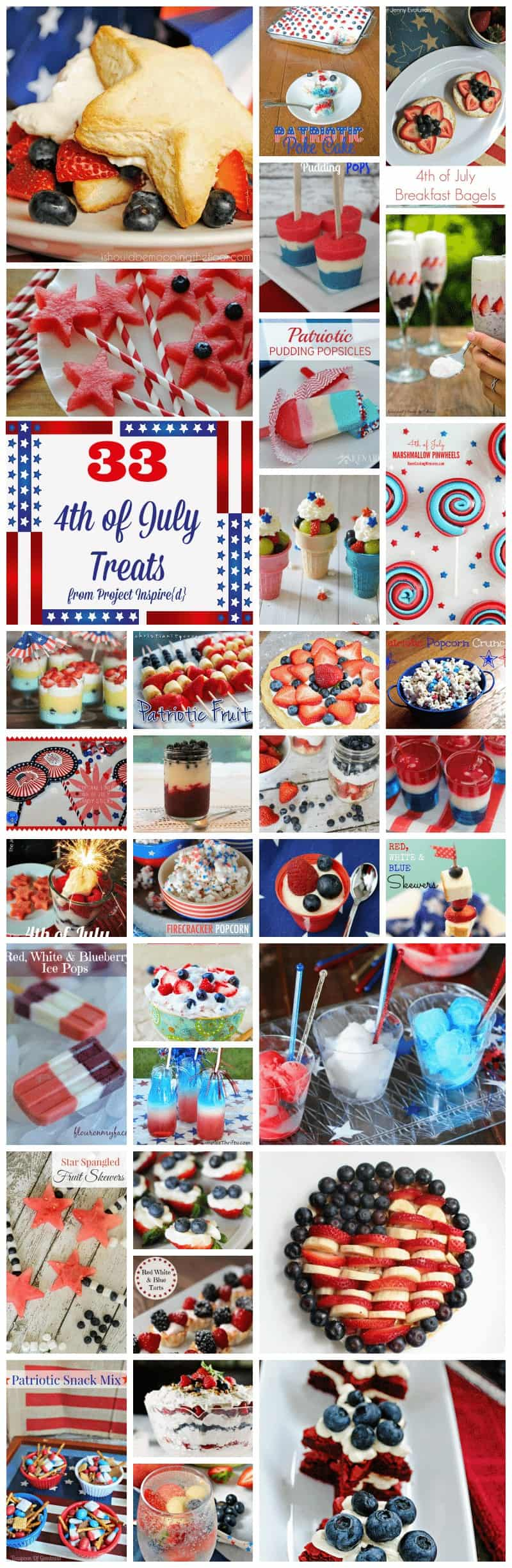 33 4th of July Treats from Project Inspire{d} at cupcakesandcrinoline.com