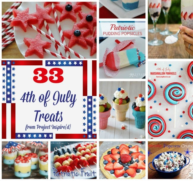 33 4th of July Treats and Desserts from Project Inspire{d} at cupcakesandcrinoline.com