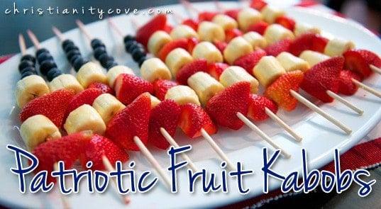 4th of July Patriotic Fruit Kabobs