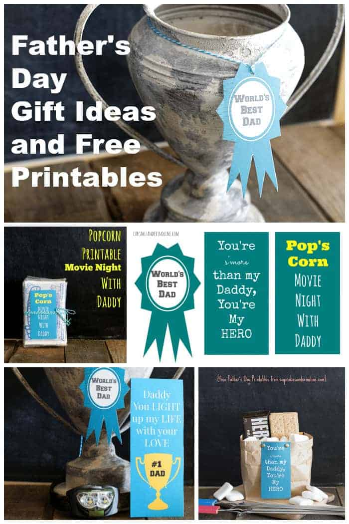 Father's Day Gift Ideas and Free Printables from cupcakesandcrinoline.com