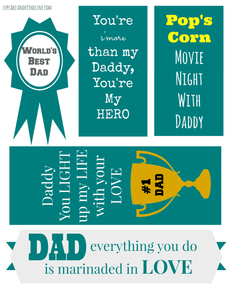 Father's Day Printables from cupcakesandcrinoline.com