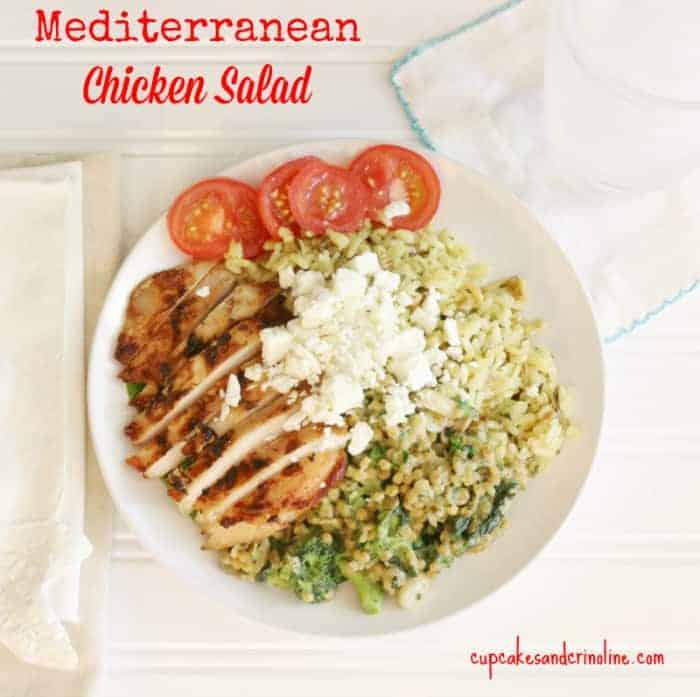 Mediterranean Chicken Salad at cupcakesandcrinoline.com