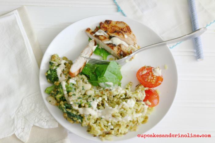 Mediterranean Chicken Salad cupcakesandcrinoline.com