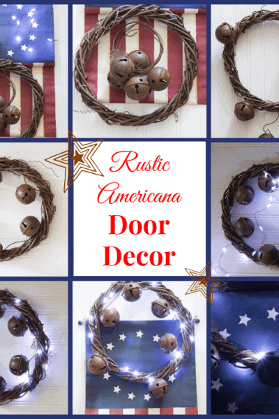 Rustic Americana Front Door Decor ~ The Ultimate Red White and Blue Round Up