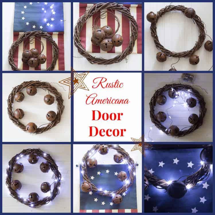 Rustic Americana Door Decor