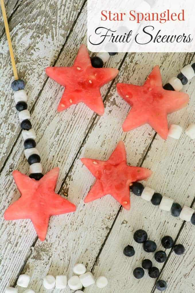 Star Spangles Fruit Skewers