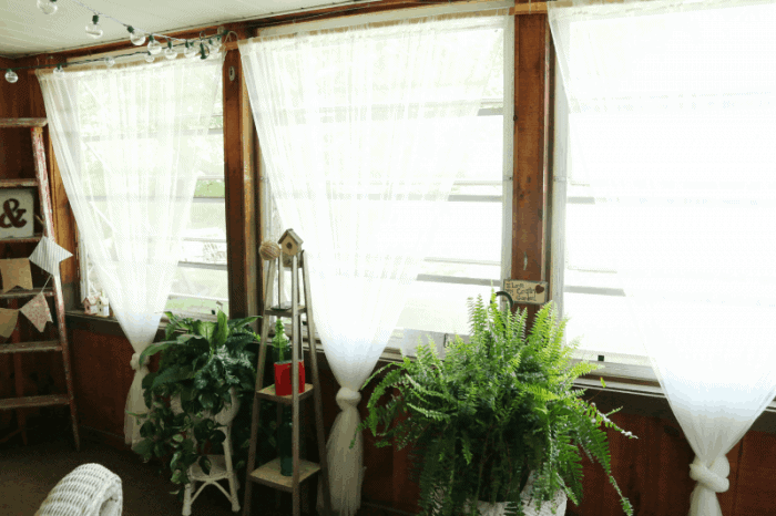Sun room windows and Dad's ladder