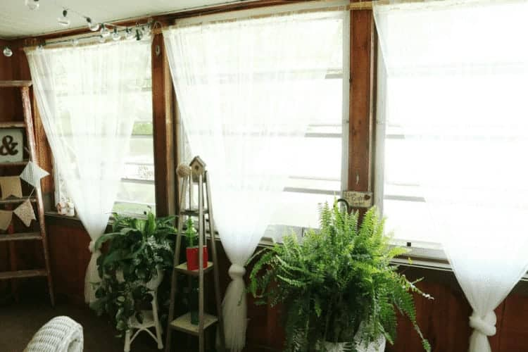 Sun room windows and Dad's ladder