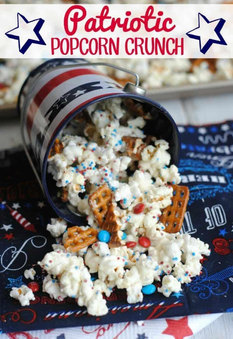 Patriotic popcorn crunch