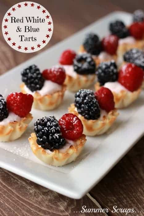 Red, white, and blue tarts - patriotic treats