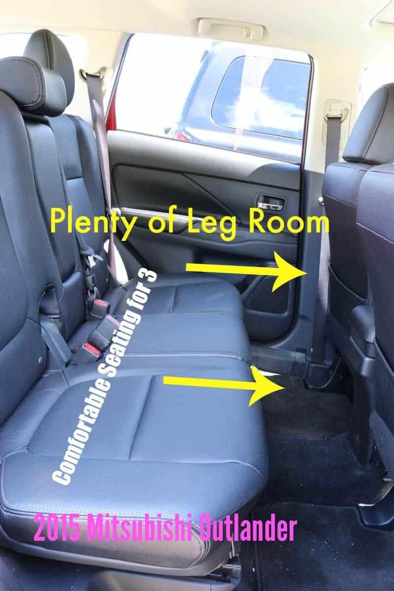 2015 Mitsubishi Outlander Back Seat - Plenty of Leg room and room for 3  cupcakesandcrinoline.com