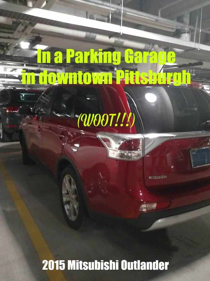 2015 Mitsubishi Outlander In a Parking Garage in downtown Pittsburgh (doin' the happy dance)