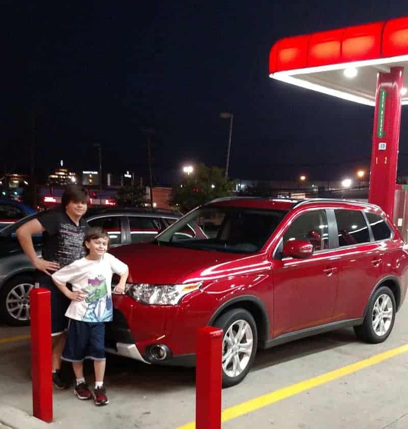2015 Mitsubishi Outlander Nighttime Ride