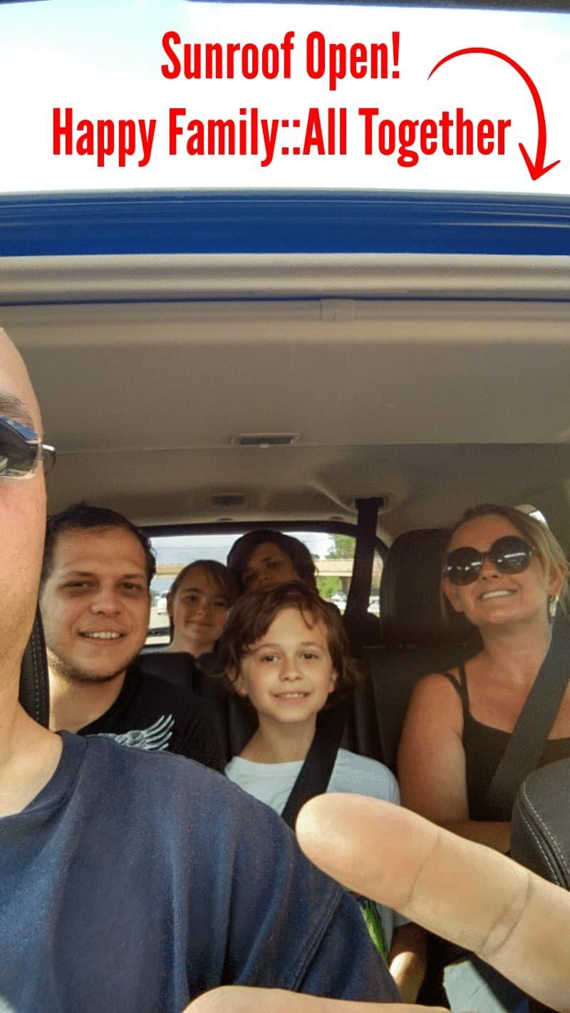 2015 Mitsubishi Outlander Sunroof Open ~ Happy Family