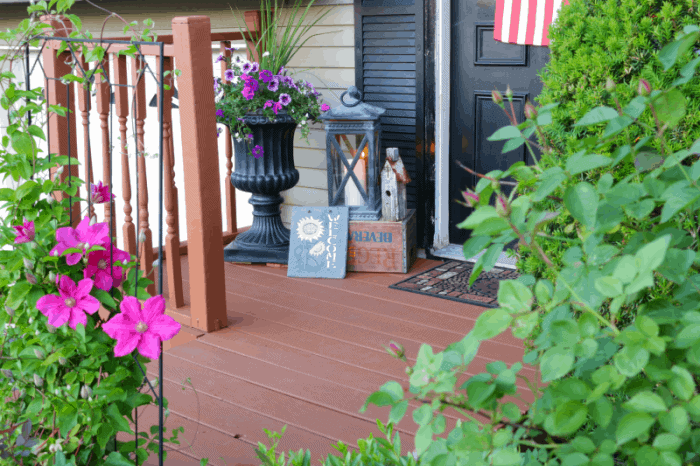 Deck makeover using Behr DeckOver