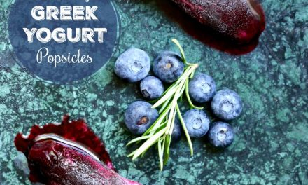 Healthy Greek Yogurt Popsicles with Fresh Blackberries and Blueberries