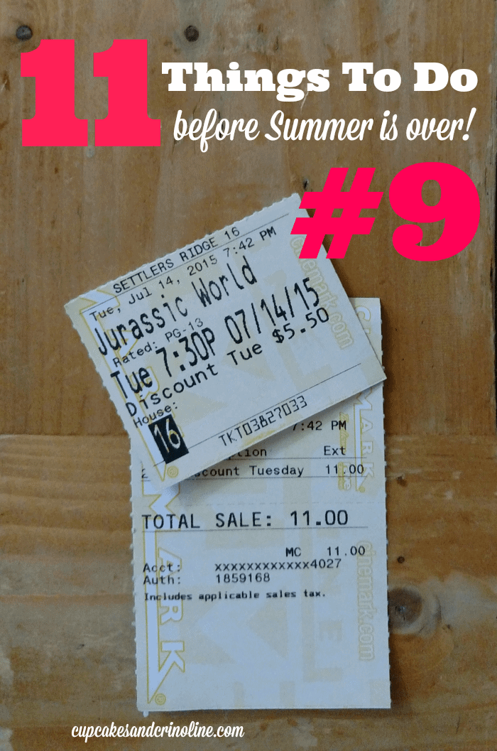 11 Things to Do Before Summer is Over #9 - complete list at cupcakesandcrinoline.com