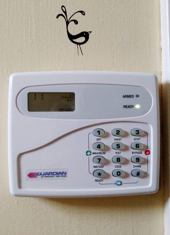 25 things you should be disinfecting but probasbly aren't - alarm system buttons - get the complete list at cupcakesandcrinoline.com