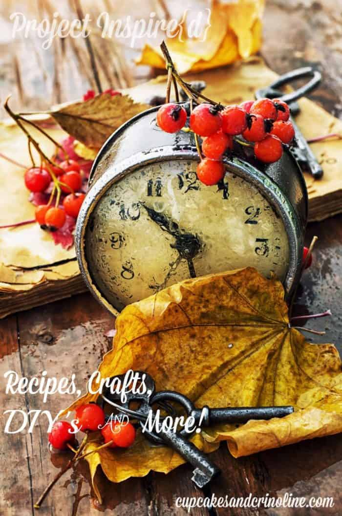 Autumn clock - Project Inspire{d} at cupcakesandcrinoline.com