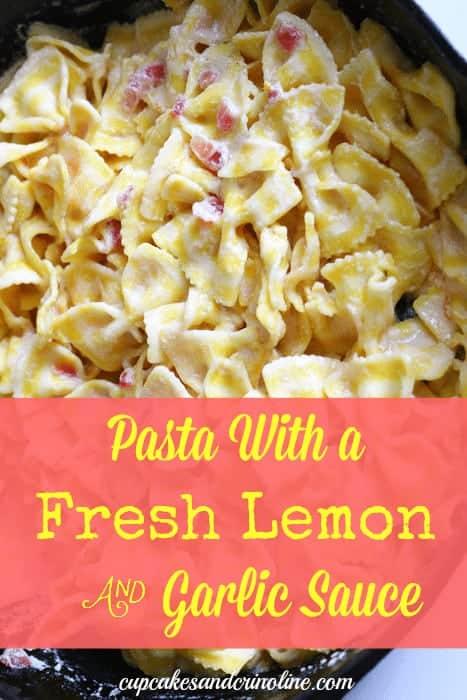 Fresh Lemon Cream Pasta from cupcakesandcrinoline.com