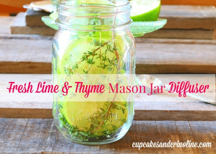 DIY Mason Jar Scent Diffuser from cupcakesandcrinoline.com