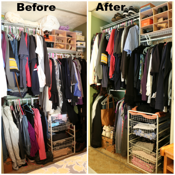 Closet Before and After - Kon Mari