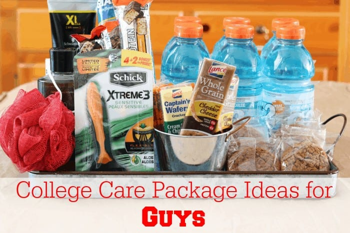 College Care Package Ideas for Guys from cupcakesandcrinoline.com