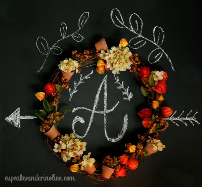 DIY Fall Wreath Square