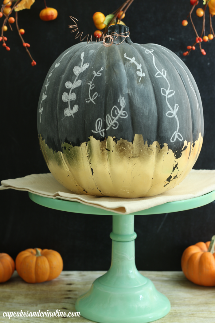 Gilded Chalkboard Pumpkin from cupcakesandcrinoline.com