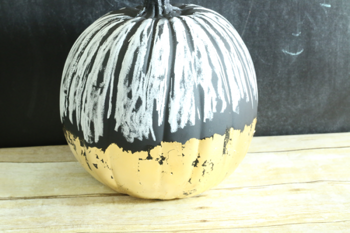 Gilded Chalkboard Pumpkin with chalk prep