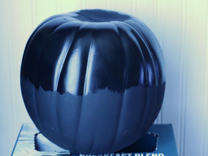 Gilded Chalkboard Pumpkin with tacky adhesive