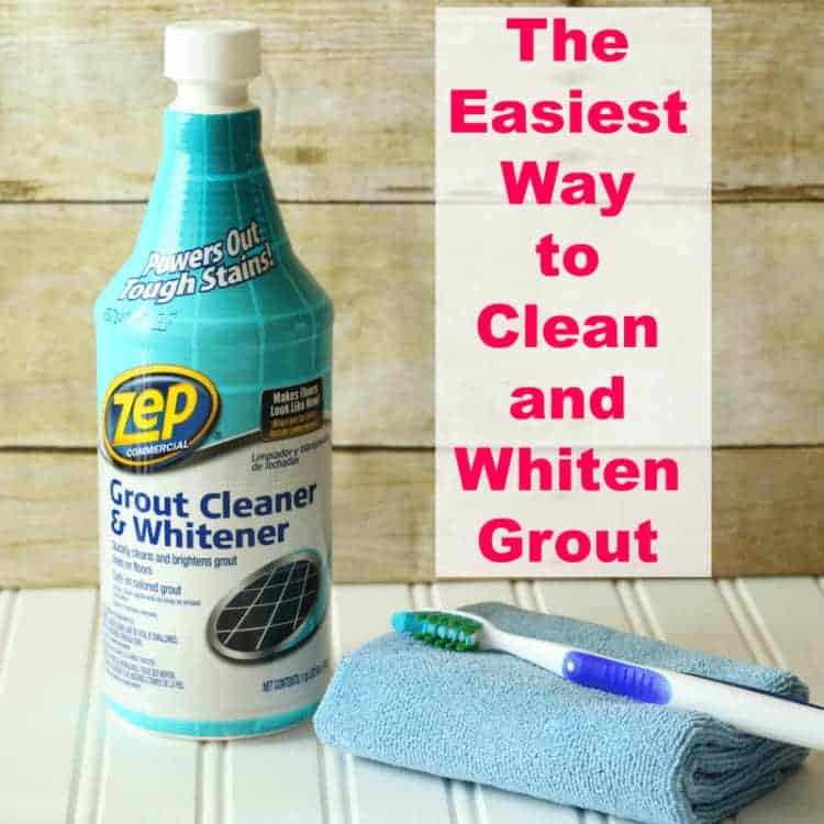 Bottle of Zep Grout Cleaner and Whitener - the easiest way to clean grout without scrubbing