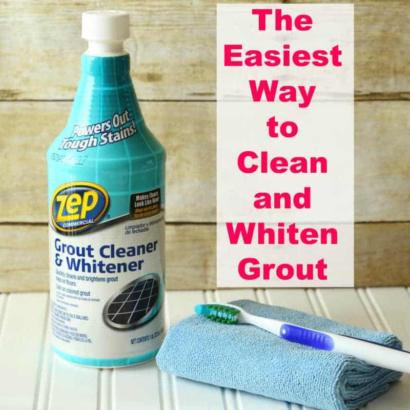 Cleaning supplies used to clean and whiten grout