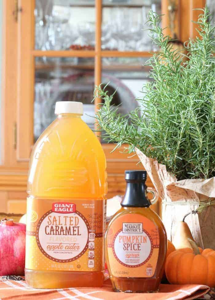 Salted Caramel Apple Cider and Pumpkin Spice Syrup from the Giant Eagle Market District