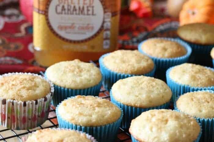 Salted Caramel Cider Cupcakes - cupcakesandcrinoline.com