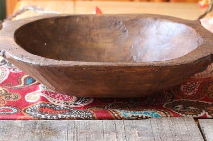 Vintage reproduction dough bowl