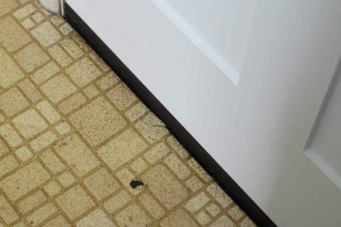 Floor before using Four Monks Cleaning Vinegar
