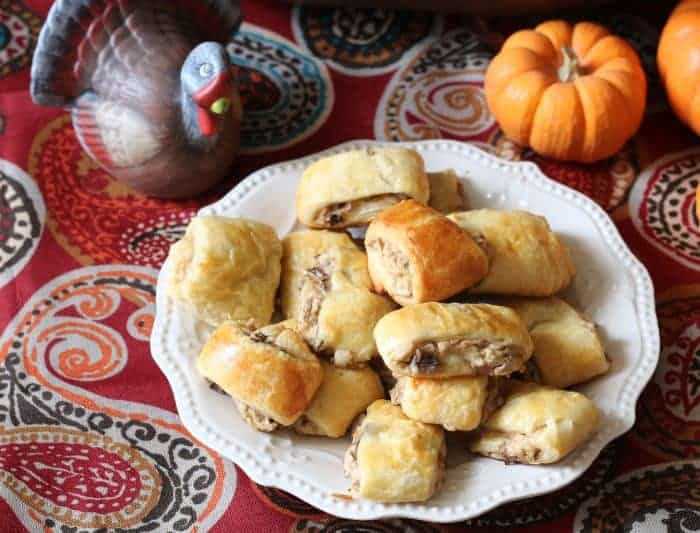 Savory and delicious cream cheese and mushroom stuffed crescent rolls