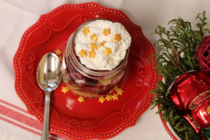 Deconstructed Pie and Cupcake Holidays Desserts in Mason Jars