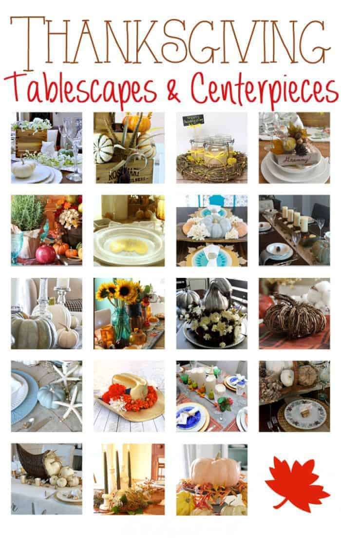 19 Thanksgiving Tablescapes and Centerpieces