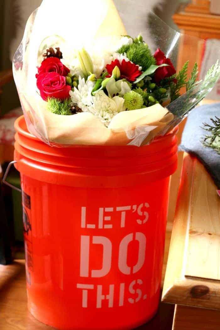 Flowers in Bucket from cupcakesandcrinoline.com