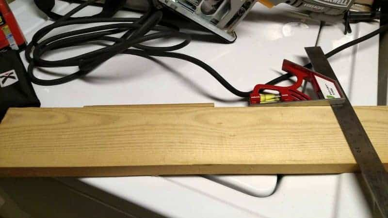 How to Make a Bow - wood scrap used to make a bow maker board