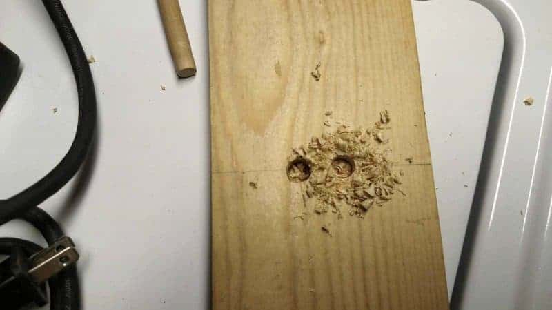 How to make a bow maker board - two drilled holes in center
