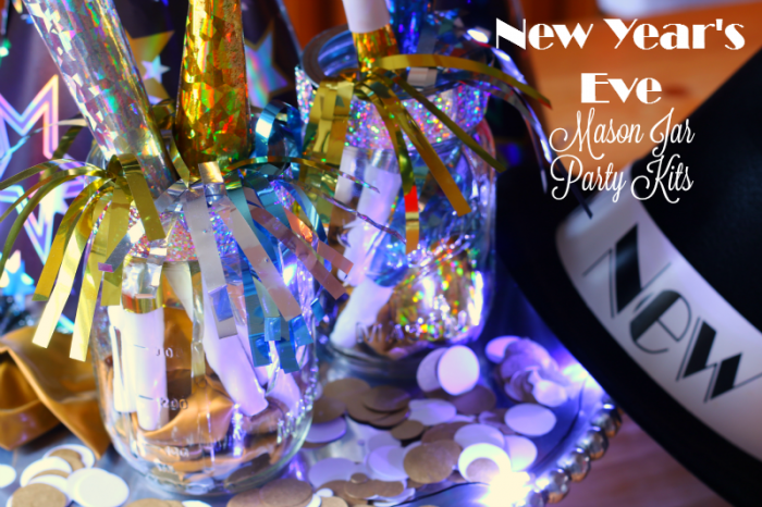 New Year's Eve Mason Jar Party Kits