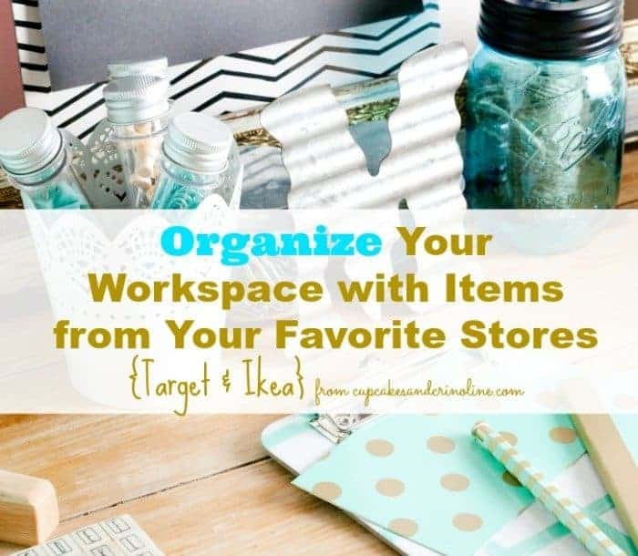 Organize your workspace with items from your favorite stores, Target and Ikea.