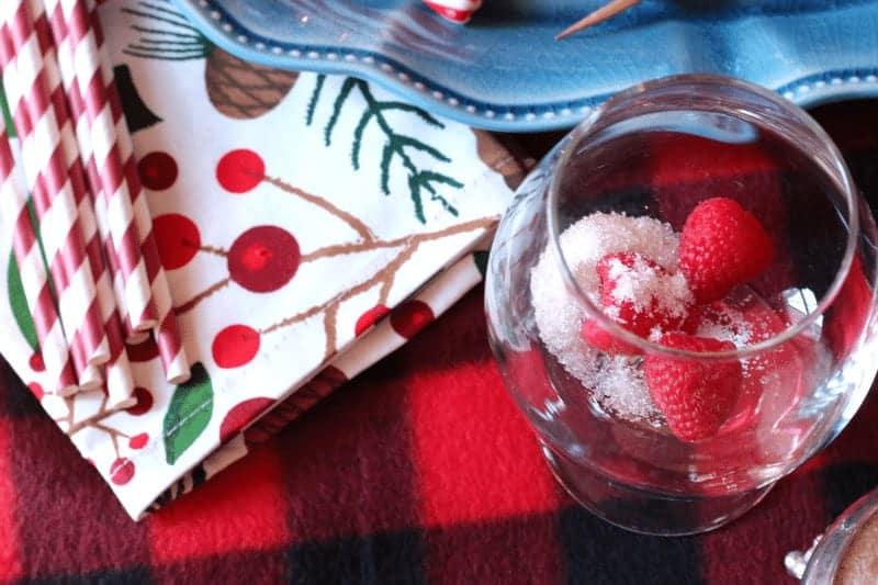 Fresh Raspberry and Raw Sugar Holiday Drinks